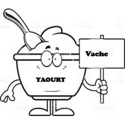 Yaourt vache nature (140ml)